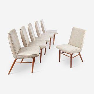 "George Nakashima (American, 1905-1990), Set of Six ""Origins"" Side Chairs, Widdicomb, Grand Rapids, MI, circa 1960s"