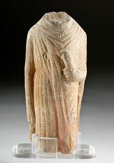 Chinese Six Dynasties Stone Torso of Bodhisattva