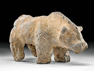 Chinese Han Dynasty Pottery Boar