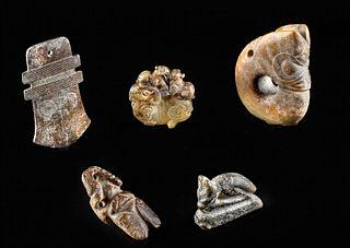 Neolithic Chinese Jade / Stone Amulets - Zoomorphs (5)