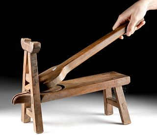 Early 20th C. Chinese Wood Herb Press