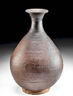 Elegant 12th C. Korean Koryo Stoneware Vessel