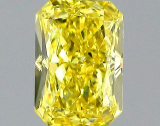 1 ct., Fancy Intense Yellow/VS2, Radiant cut diamond, unmounted, PK1554-01