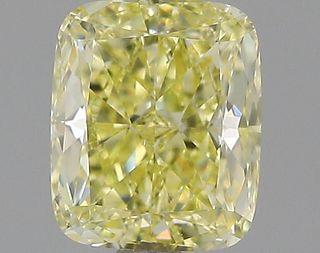 1.01 ct., Fancy Yellow/VS2, Cushion cut diamond, unmounted, IM-481-001-01