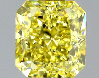 1.01 ct., Fancy Intense Yellow/VS2, Radiant cut diamond, unmounted, PP5774-03