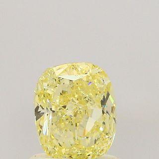 1.02 ct., Fancy Yellow/VVS2, Cushion cut diamond, unmounted, PP5776