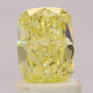 1.05 ct., Fancy Yellow/VS2, Cushion cut diamond, unmounted, IM-484-001-08