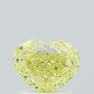1.14 ct., Fancy Yellow/VS2, Heart cut diamond, unmounted, IM-499-001-03