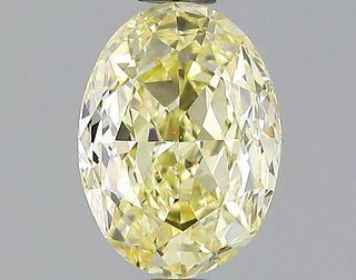1.17 ct., Fancy Yellow/VVS2, Oval cut diamond, unmounted, PK1707