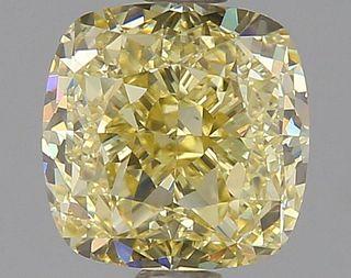1.21 ct., Fancy Yellow/VS1, Cushion cut diamond, unmounted, GM-0599