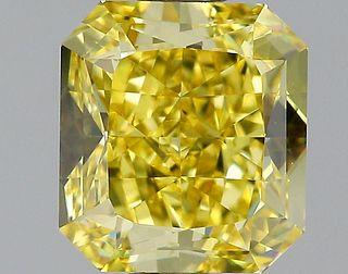 1.53 ct., Fancy Vivid Yellow/VVS1, Radiant cut diamond, unmounted, GM-0884