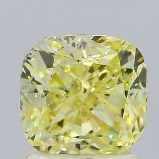 1.7 ct., Fancy Yellow/VS1, Cushion cut diamond, unmounted, GM-0305