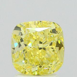 2.02 ct., Fancy Intense Yellow/VS1, Cushion cut diamond, unmounted, PP4756-02