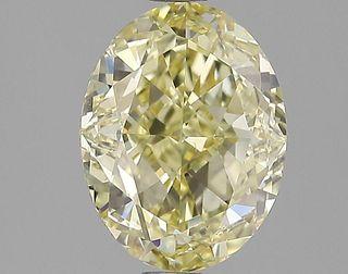 3.08 ct., Fancy Intense Yellow/VS2, Oval cut diamond, unmounted, GSD-0185