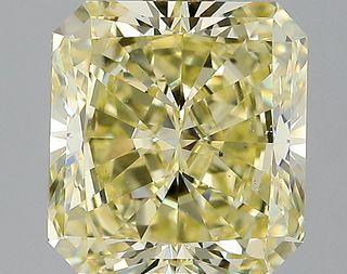 3.16 ct., Fancy Yellow/VS2, Radiant cut diamond, unmounted, LM-0121