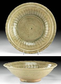 15th C. Vietnamese Annamese Glazed Pottery Bowl