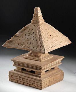 14th C. Majapahit Terracotta Model of a Chorten / Stupa