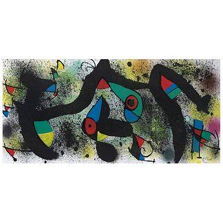 JOAN MIRÓ (Barcelona, España, 1893 - Palma de Mallorca, España, 1983) De la serie Miró Artigas Ceramiques, 1974 Firmada en plancha.