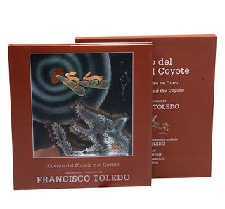 Toledo, Francisco- Toledo, Natalia y Carlos Monsiváis (Textos). Cuento del Conejo y el Coyote. México: Fondo de Cultura Económica.