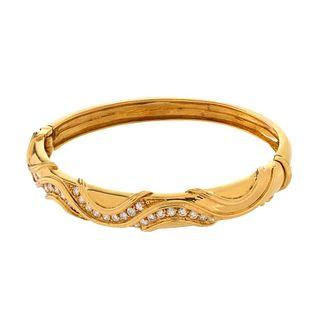 Diamond and 18K Bangle Bracelet