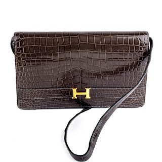 Hermes Alligator Shoulder Bag