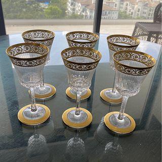 "St. Louis ""Thistle"" Wine Glasses"