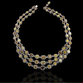 Important Multi Color Diamond Necklace