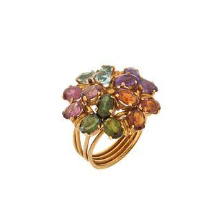 Gemstone and 18K Ring