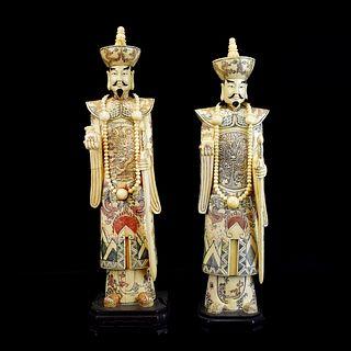 Chinese Polychrome Bone Immortals