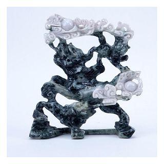 Antique Chinese Jadeite Foo Dog Figurine