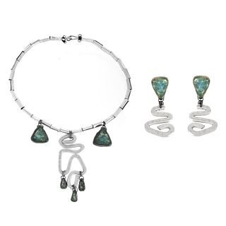 Elsa Freund Necklace and Earrings