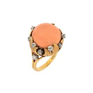Sikan Coral, Diamond and 18K Ring
