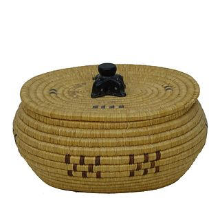 Native American Inuit Woven Basket