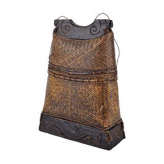 Vintage Philipines Hand Woven Basket