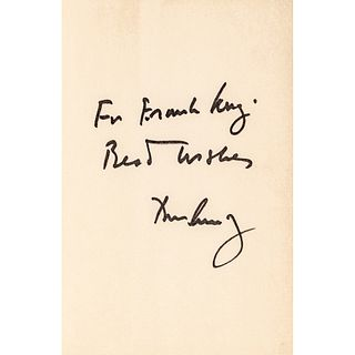 1961 JOHN FITZGERALD KENNEDY Inscribed + Autographed Copy of WHY ENGLAND SLEPT