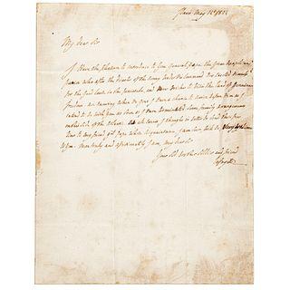 1824 MARQUIS DE LAFAYETTE ALS General Pepe's Introduction to Gen. Marinus Willet