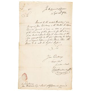 1784 FREDERICK MUHLENBERG First Speaker of the House Autographed Letter Signed