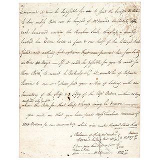 c. 1780s Revolutionary War, Autograph Letter Signed by Daniel Parker