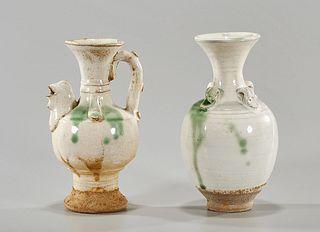 Two Chinese Sancai-Style Glazed Ceramics