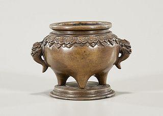 Chinese Miniature Bronze Censer