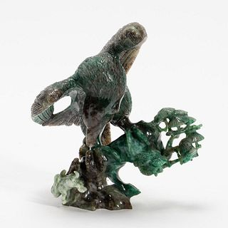 CHINESE CARVED HARDSTONE EAGLE SCULPTURE