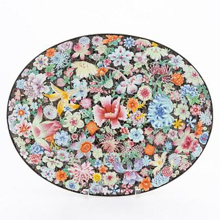 CHINESE EXPORT 1000 FLOWERS OVAL PLATTER