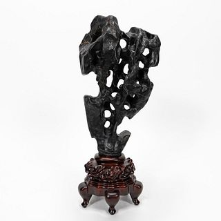 CHINESE SCHOLAR STYLE COMPOSITE ROCK ON STAND