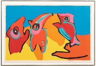 """KAREL APPEL SIGNED """"DANCING IN THE SPRING"""", 1970"""