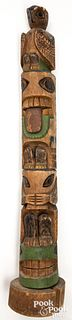 Pacific Northwest Coast wood carved and painted t