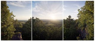 BARBARA BOSWORTH, Sunset from Provin Mountain, from the New England Trail series