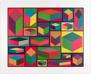 SOL LEWITT, Distorted Cubes (Plate #4)