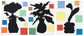 DONALD BAECHLER, Abstract Composition with Flower I, II, and III