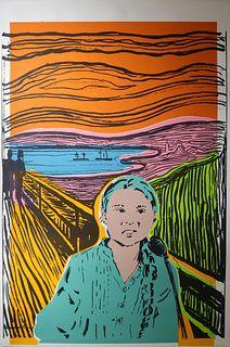 JUNE AUGUST, Greta Thunberg The Scream of Nature_Turquoise Orange