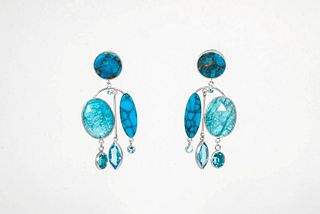 SUZAN REZAC, Swimming Pool Earrings